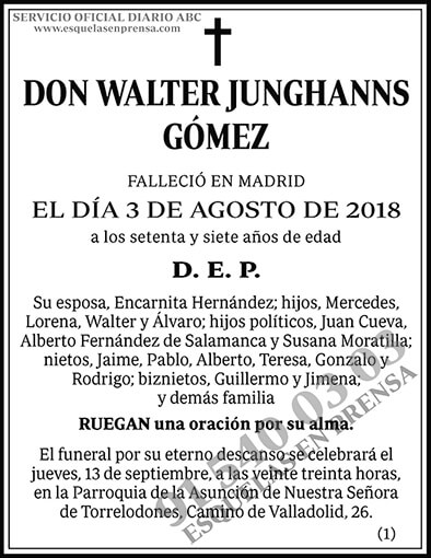Walter Junghanns Gómez